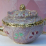 Beautiful pink and gold enameled teapot gift