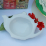 melamine-lilke tea trivet: to hold used teabags or condiments like clotted cream and jam