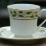 Poinsettia porcelain teacup and saucer set