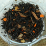 Auntie's Pumpkin Pie Spice black tea. Ingredients: black tea, cinnamon bits, citrus peel, cloves, cardamon, caramel bits and pumpkin sprinkles.